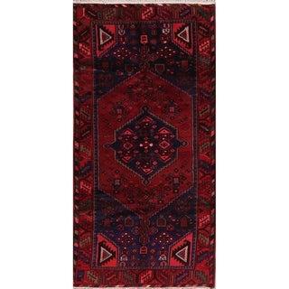 "Geometric Hamedan Persian Runner Rug Handmade Oriental Carpet - 3'4"" x 6'9"" Runner"