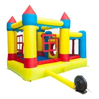 Thick Oxford Cloth Inflatable Bounce House Castle Ball Pit Jumper Kids Play Castle Multicolor - 1 x Inflatable Castle