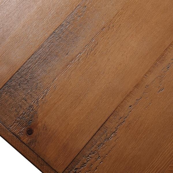 U Style 43 Metal Legs Rustic Coffee Table Overstock 30525112