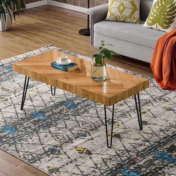 Modern Coffee Table, Easy Assembly Tea Table Cocktail Table - N/A