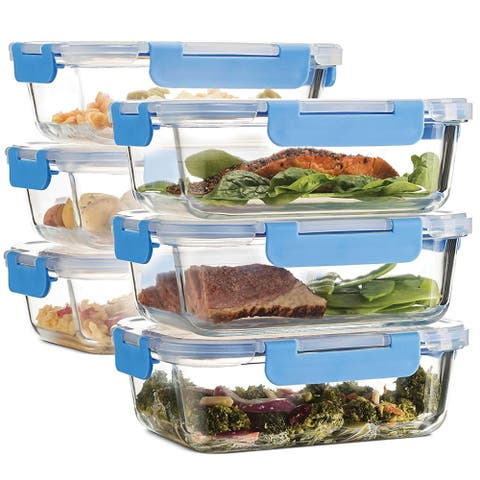 Superior Glass Meal Prep Containers - 6-pack (35oz)