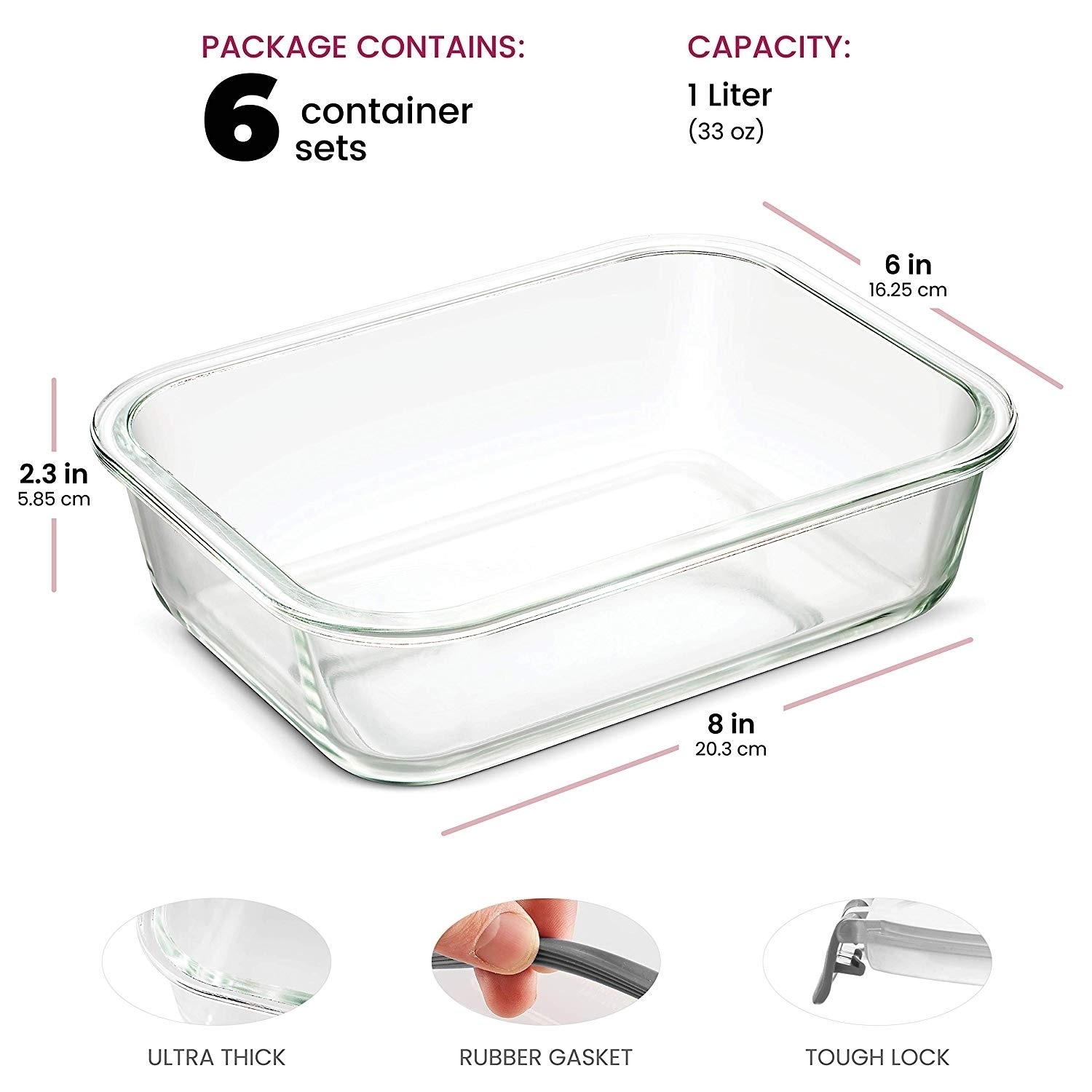 Superior Gl Meal Prep Containers