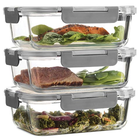 Superior Glass Meal Prep Containers - 3-pack (35oz)