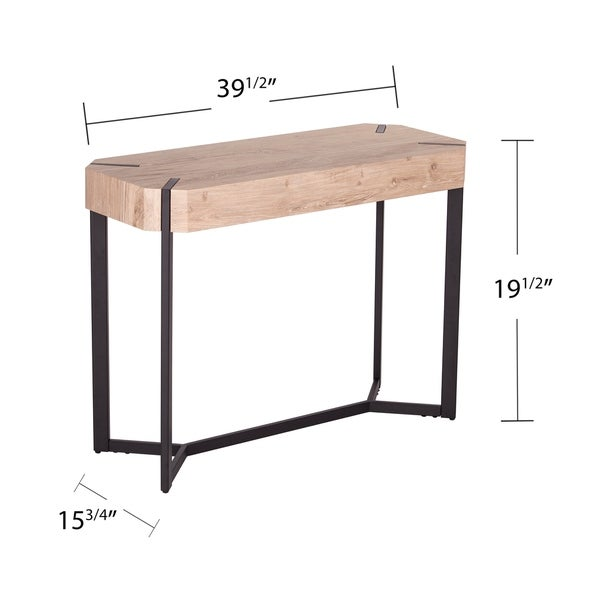 The Gray Barn Tierney Modern Farmhouse Natural Wood Console Table