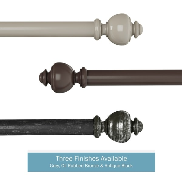 1-Inch Decorative Modern Urn Finial Curtain Rod by Lavish Home. Opens flyout.