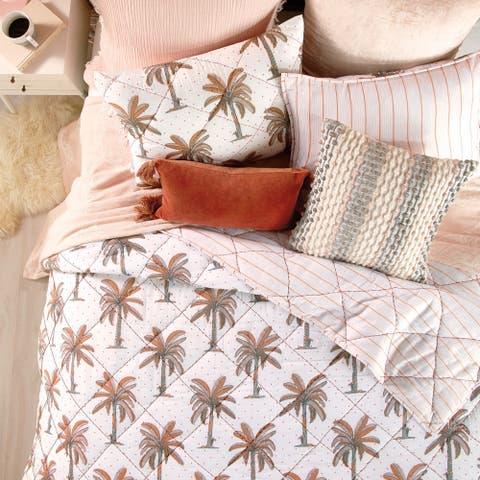 Porch & Den Saint John Tropical Palm Cotton Quilt