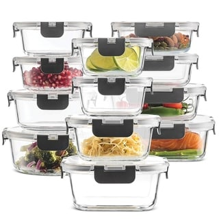 24-Piece Superior Glass Food Storage Containers Set