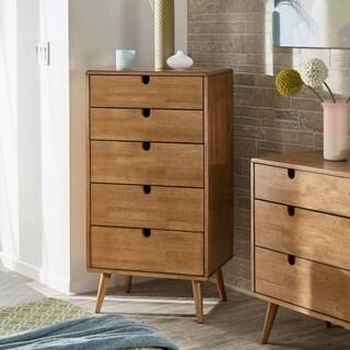 Clark Oak Finish 5-drawer Chest by iNSPIRE Q Modern