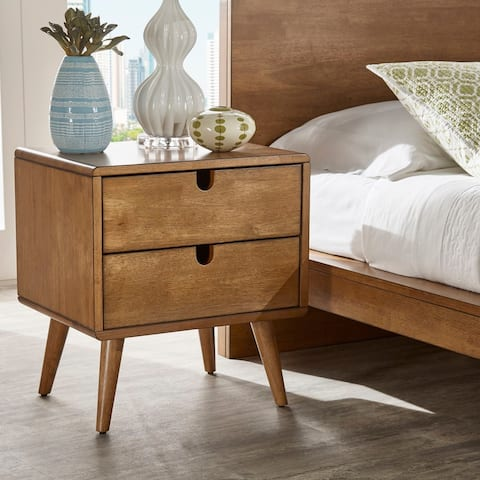 Clark Oak Finish 2-drawer Nightstand by iNSPIRE Q Modern