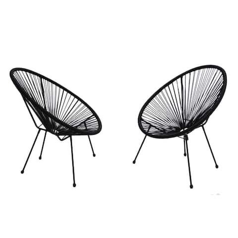 Acapulco Black Resort grade Chairs Set pack of 2 chairs