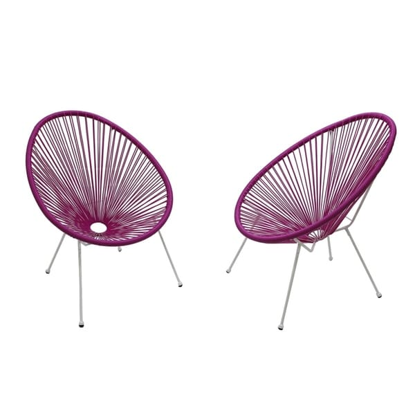 Acapulco Light Purple Resort grade Chairs Set pack of 2 chairs. Opens flyout.