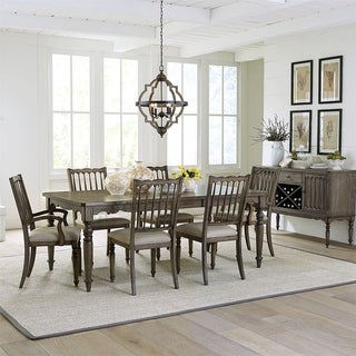 Brandywine Weathered Grey 7-piece Rectangular Table Set
