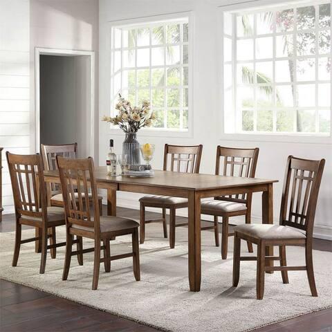 Santa Rosa II Antique Honey 7-piece Rectangular Table Set