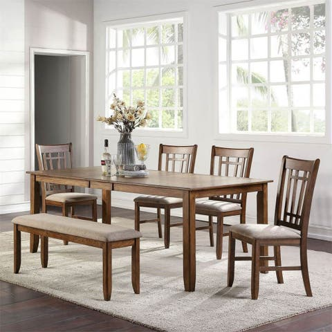 Santa Rosa II Antique Honey 6-piece Rectangular Table Set
