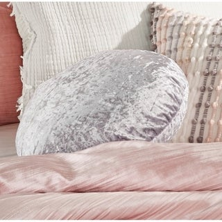 Silver Orchid Lunda Velvet Round Decorative Pillow