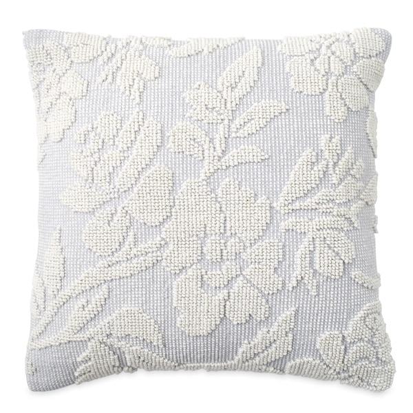 Zia Woven Floral Decorative Pillow