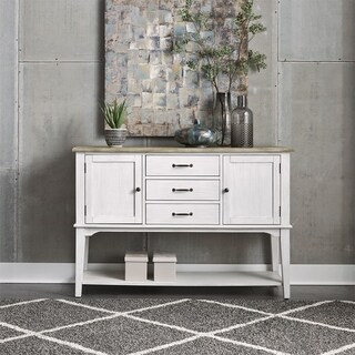 Summerville Soft White Wash 3-drawer Server