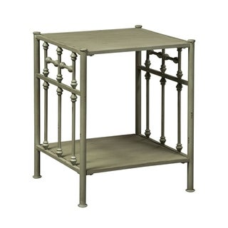 Vintage Series Green Distressed Metal Open Night Stand