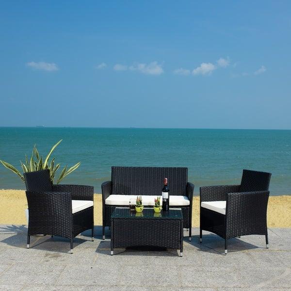 Safavieh Outdoor Living Bandele 4-piece Patio Set