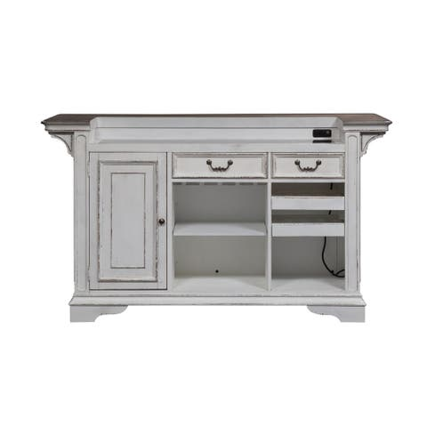 Magnolia Manor Antique White Bar Unit