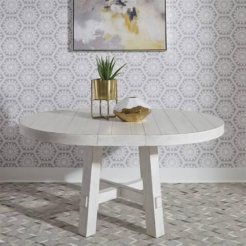 Modern Farmhouse Flea Market White Round Dining Table