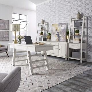 Modern Farmhouse Flea Market White 4 Pc Complete Desk