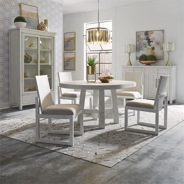 Modern Farmhouse Flea Market White Optional 5-piece Round Table Set