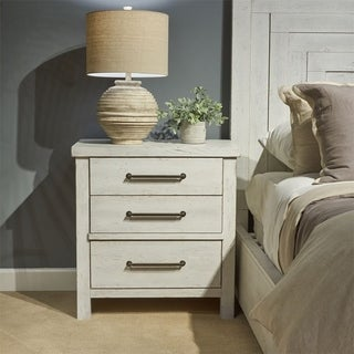 Modern Farmhouse Flea Market White 3-drawer Nightstand