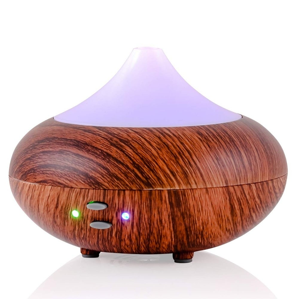 Ovente Essential Oils Diffuser with LED Lights, White (DF4695DW) (Auto Shut Off/Portable - White - Cold)