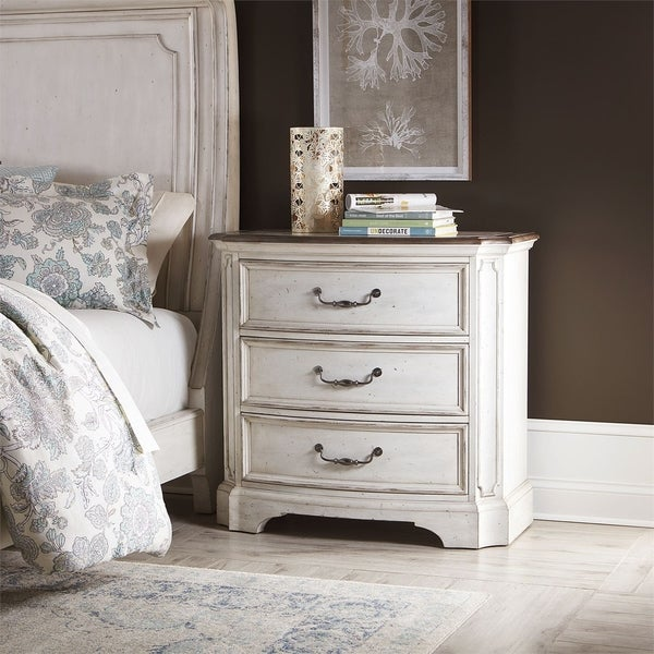 Abbey Road Porcelain White Bedside Chest