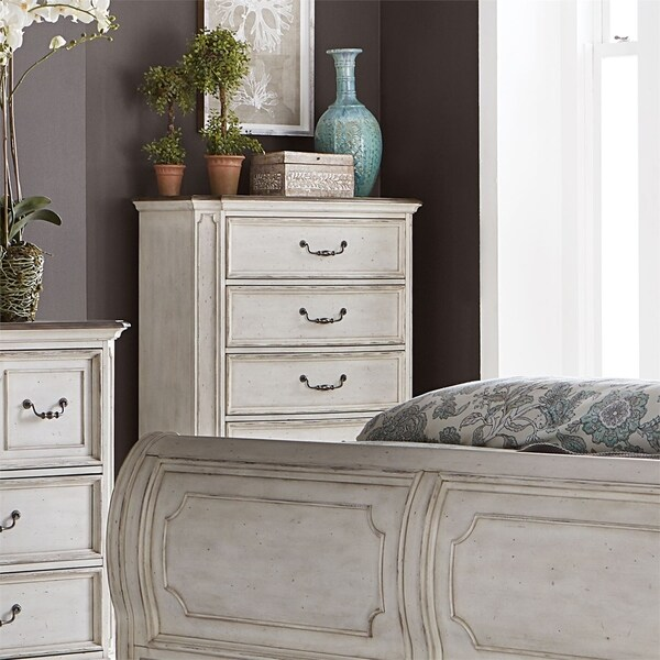 Abbey Road Porcelain White 5-drawer Chest