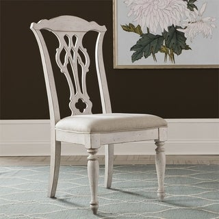 Abbey Road Porcelain White Splat Back Side Chairs (Set of 2)