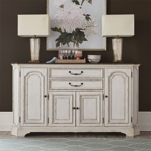 Abbey Road Porcelain White 2-drawer Hall Buffet