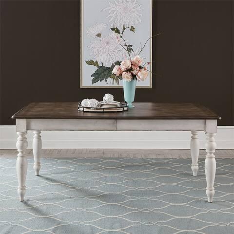 Abbey Road Porcelain White Rectangular Leg Table