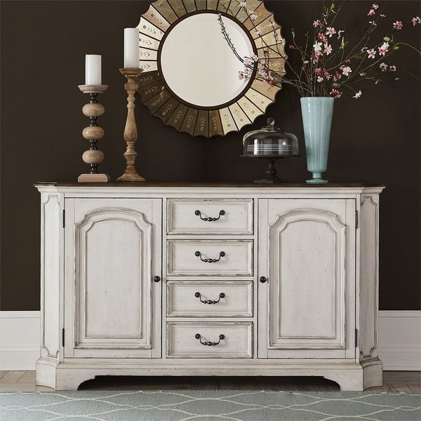 Abbey Road Porcelain White 4-drawer Buffet