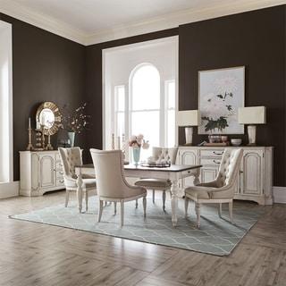 Abbey Road Porcelain White 5-piece Optional Rectangular Table Set