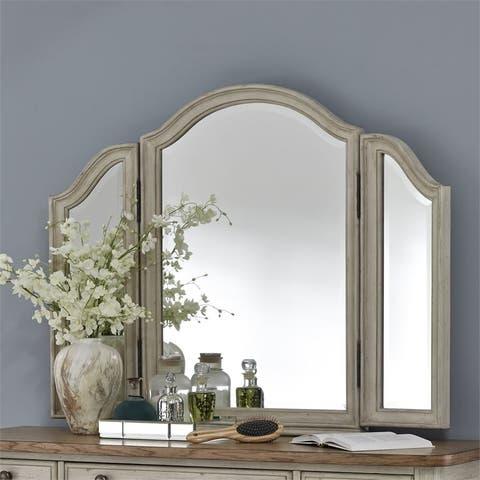 Farmhouse Reimagined Antique White Vanity Mirror