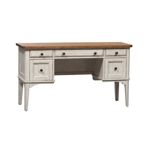 Farmhouse Reimagined Antique White Vanity Desk