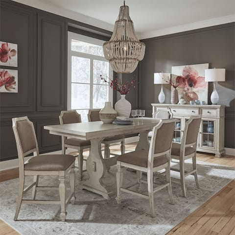 Liberty Low Country Sea Oat White 7-piece Gathering Table Set