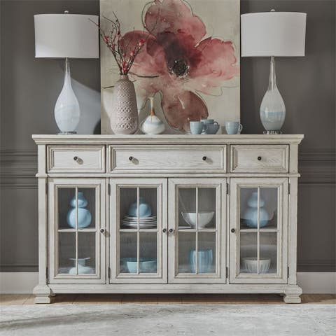 Liberty Low Country Sea Oat White 3-drawer Hall Buffet