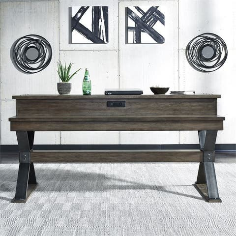 Sonoma Road Weathered Beaten Bark Console Bar Table