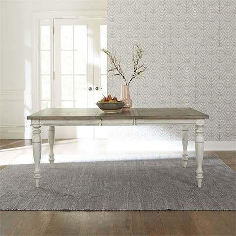 Whitney Antique Linen with Weathered Grey Rectangular Leg Table