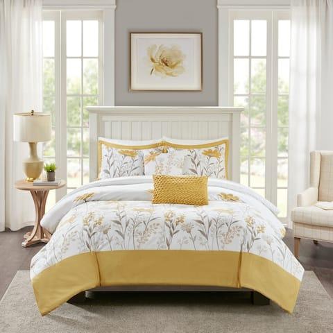 Harbor House Meadow Yellow 5 Piece Cotton Comforter Set