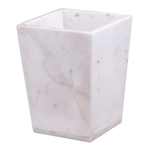 Creative Home White Marble Trash Bin