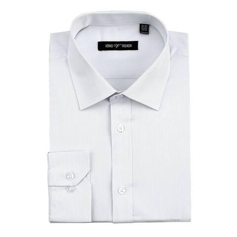 Men's Classic/Regular Fit Cotton Striped Dress Shirt