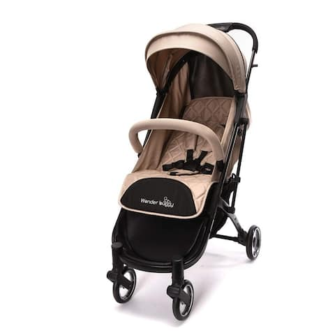 WonderBuggy Baby Stroller Portable One Hand Folding Compact Travel Stroller Beige
