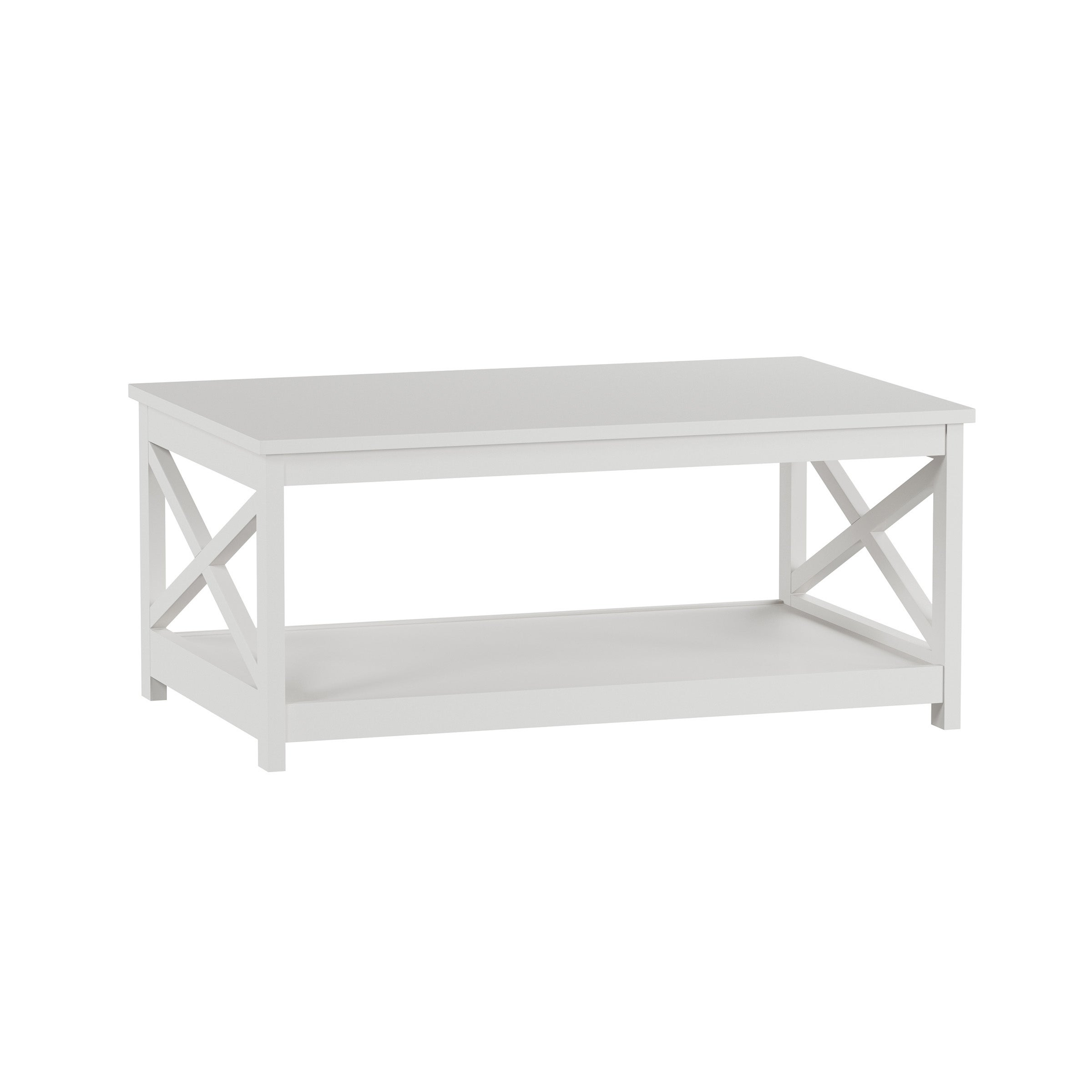 - Shop 2 Tier Low Profile Coffee Table By Lavish Home - Overstock