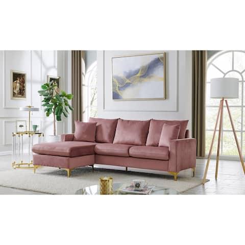 Chic Home Cromwell Velvet Upholstered Modular Sectional Sofa