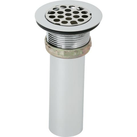 "Elkay 2"" Drain Fitting Type 304 Stainless Steel Body, Grid Strainer and Tailpiece"