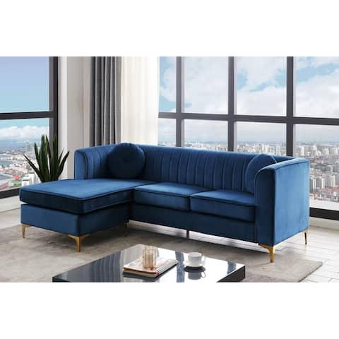 Chic Home Britannia Velvet Upholstered Modular Sectional Sofa